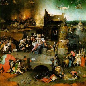 """Panel Central de""""Las tentaciones de San Antonio Abad"""" (MNAA- Lisboa)"""