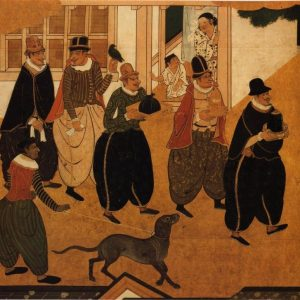 Representación de mercaderes portugueses en Nagasaki (c.1600)