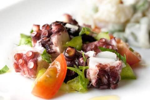 Ensalada de Pulpo Salada de Polvo