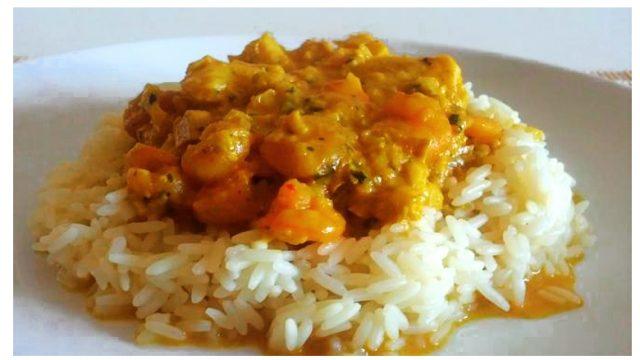 Curry de pescado, receta portuguesa de inspiración oriental