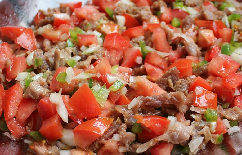 Salada de Estupeta de Atum, sabores do Algarve